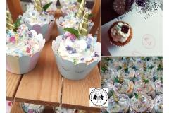 UNICORN cupcakes...Mrkvové s malinami uvnitř, jovo krém, unicorn x oříšková pralinka